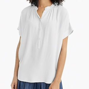 [J Crew]✨NWT✨Oversized Ivory Popover Shirt